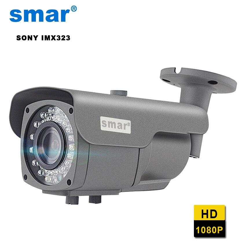 Smar наружная ip-камера ручной 2,8-12 мм Объектив Фокус 1080P sony IMX323 пуля камера ночного видения ip-камера слежения Onvif H.264