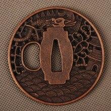 New Delicate Pattern Carved Sword Fitting Alloy Tsuba Hand Guard for Samurai Sword Japanese Katana or Wakizashi Nice Metal Craft