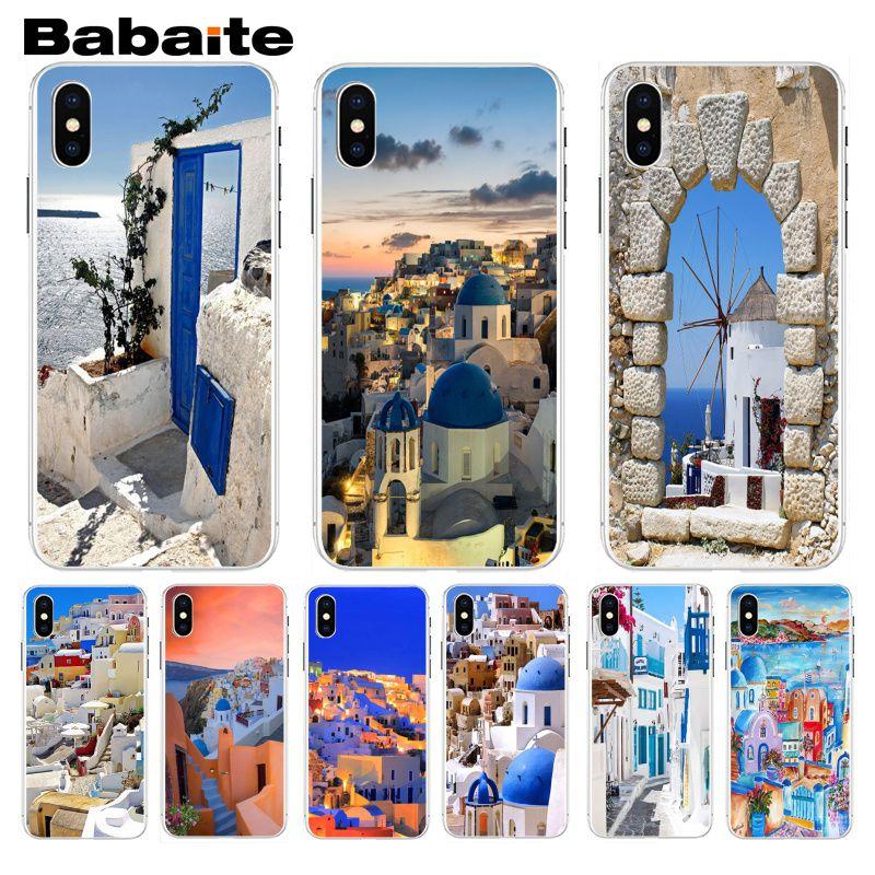 Carcasa para teléfono móvil Babaite Beautiful greece scaneary Chic de colores para iphone 7 7plus X 8 8plus y 5 5s 6s 6s Plus