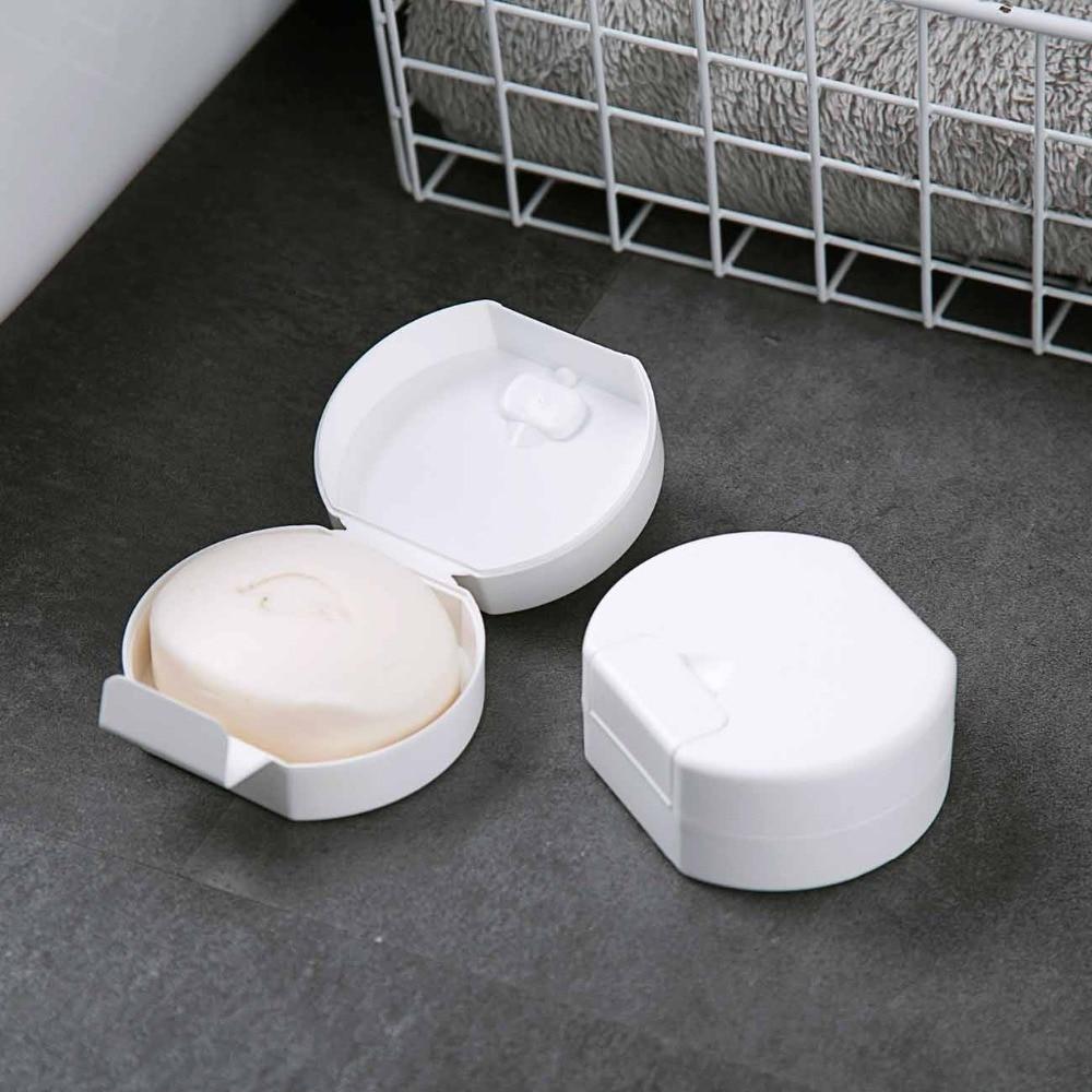 OTHERHOUSE de viaje Blanco caja de jabón de ducha bandeja jabonera creativo jabones de almacenamiento de titular de placa de baño impermeable jabón caso