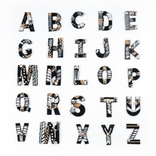 AHYONNIEX 2019 nueva moda alfabeto de letras inglesas cuentas de diamantes de imitación parches para coser apliques ropa bolsas decoración diy parche