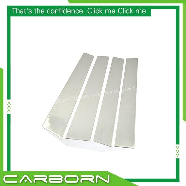 Para nissan titan 2004-2009 304 de aço inoxidável janela do carro pilar pós guarnição-4 peças