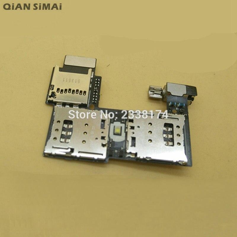 QiAN SiMAi для Motorola Moto G2 XT1068 XT1069 Новый одиночный/двойной слот для sim-карты лоток держатель для считывателя гнезда гибкий кабель запасные части