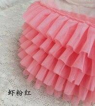 Watemelon tiffanyblue ribete de tul con volantes, embellecedor de encaje de volantes rosa, tela de vestido de tutú muñeca tela de vestido, decoraciones para boda
