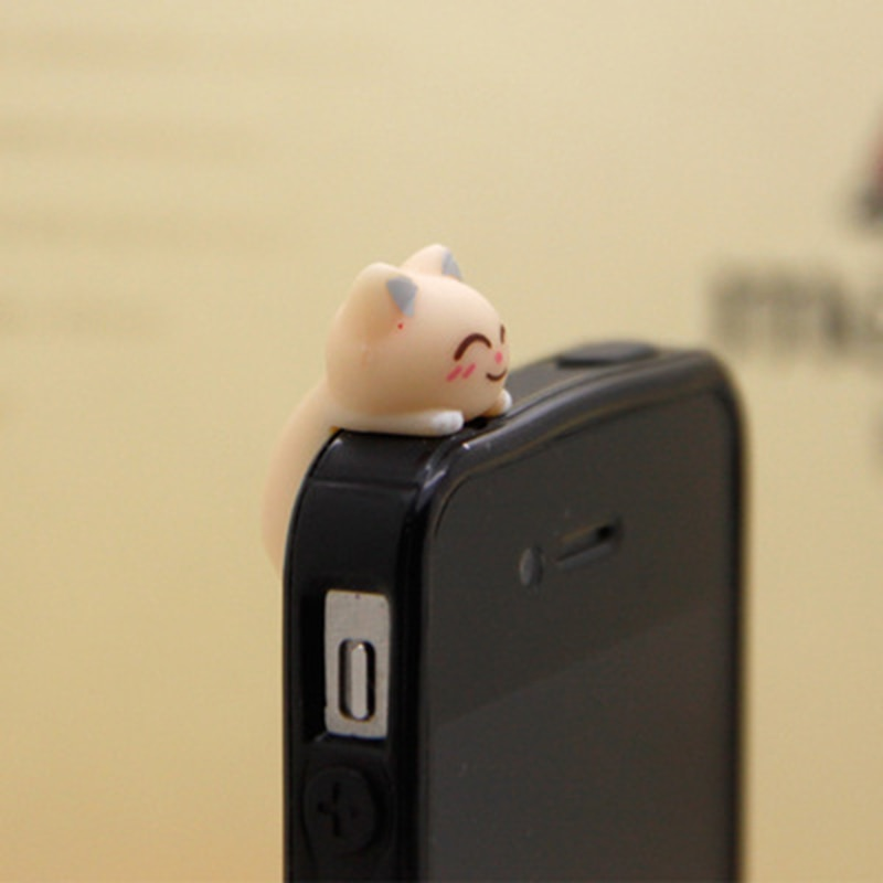 CatXaa 3,5 мм Пылезащитная заглушка для наушников 3,5 разъем порт музыка аудио Cat Kitty модель Пробка Для Huawei OPPO VIVO Meizu HTC-3