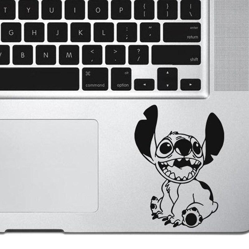 Pegatinas bonitas de Stich para ordenador portátil, Macbook, decoración de fondo de arte, pegatinas de personajes de dibujos animados, pegatina para coche, póster de vinilo, decoración TA407