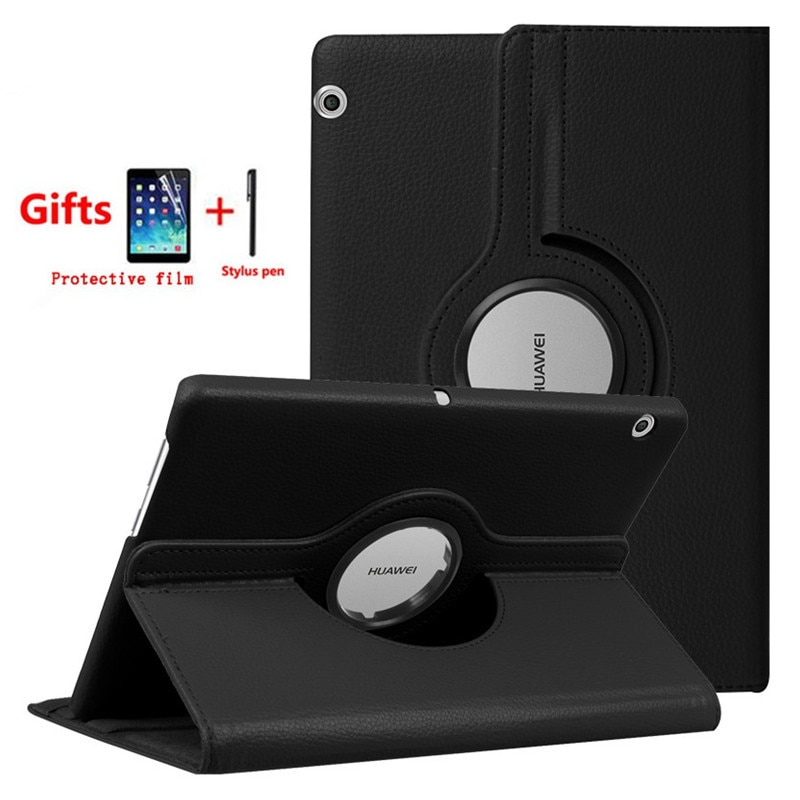 Вращающийся на 360 градусов чехол для Huawei MediaPad T3 10 AGS-W09 AGS-L09 планшет чехол для Honor Play Pad 2 9,6 дюймов + пленка + стилус