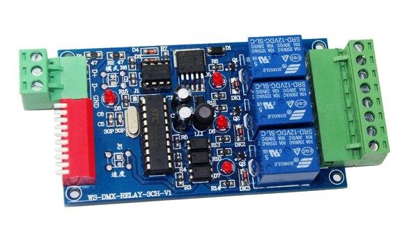 Najlepsza cena 1 sztuk DC12V 10A * 3 kanałowy dmx512 przekaźniki używać do lampy led
