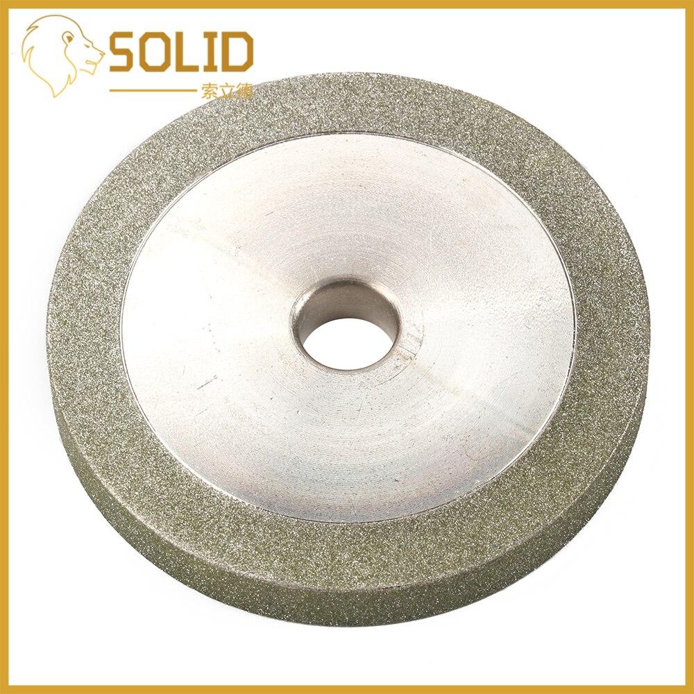 Rueda de molienda de diamante 78x12,7x10mm Grit150 trituradora disco de molienda para herramienta de corte abrasiva