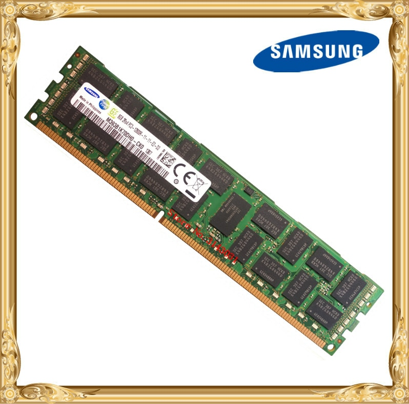 Samsung server memory DDR3 8GB 16GB 1600MHz ECC REG DDR3  PC3-12800R Register DIMM RAM 240pin 12800 8G 2RX4 X58 X79