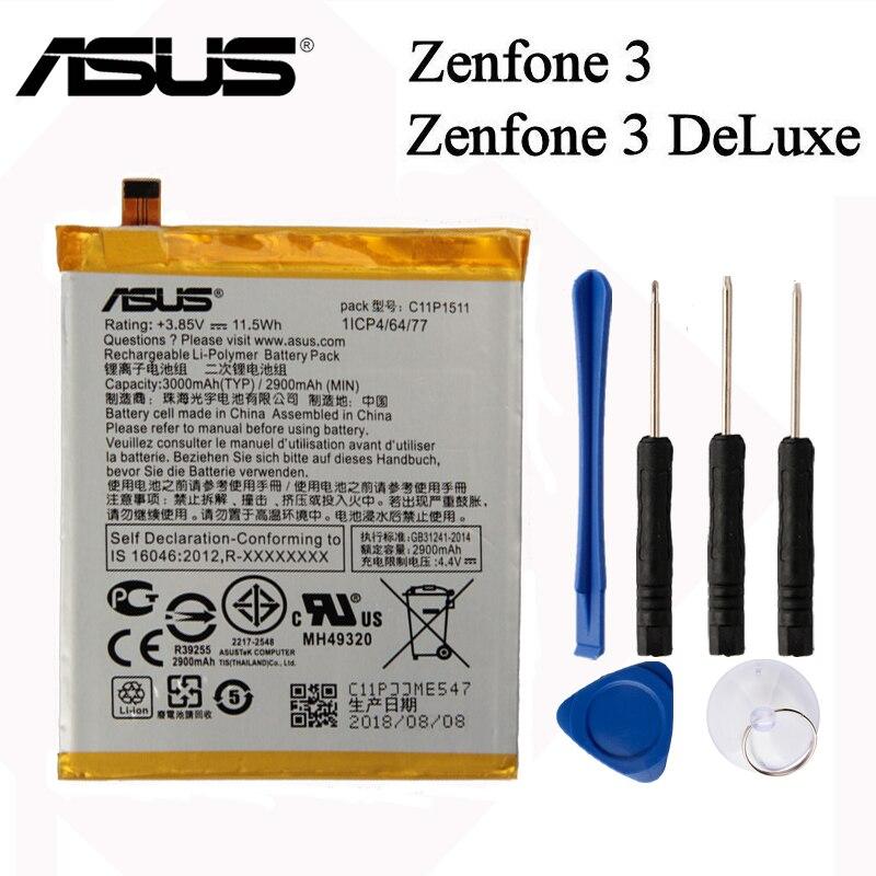 Оригинальный ASUS с большой емкостью C11P1511 Аккумулятор для ASUS Zenfone3 Ze552kl Z012da Z012de 2900mAh Прямая линия