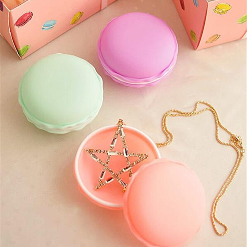 6pieces/lot portable candy color Mini Macarons gift package box Portable storage for Small items lovely jewelry case