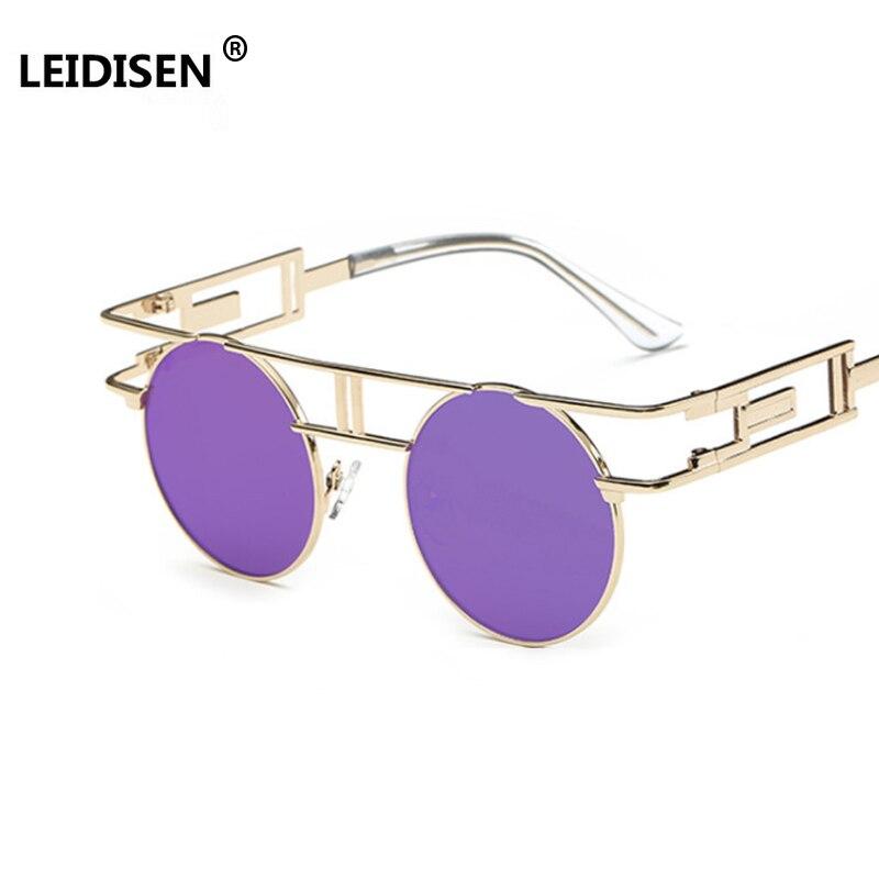 Мужские и женские солнцезащитные очки LEIDISEN, винтажные очки в стиле стимпанк, UV400