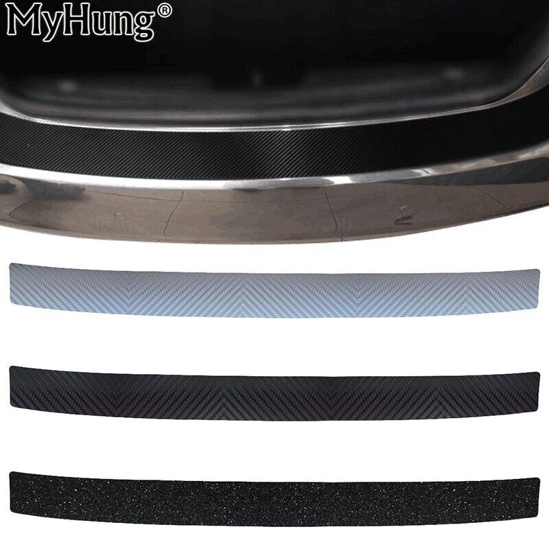 4D Carbon Fiber Sticker Car Rear Bumper Scratch-resistant Protective Sill Pedals Cover For Peugeot 307 206 Citroen C4 Elysee
