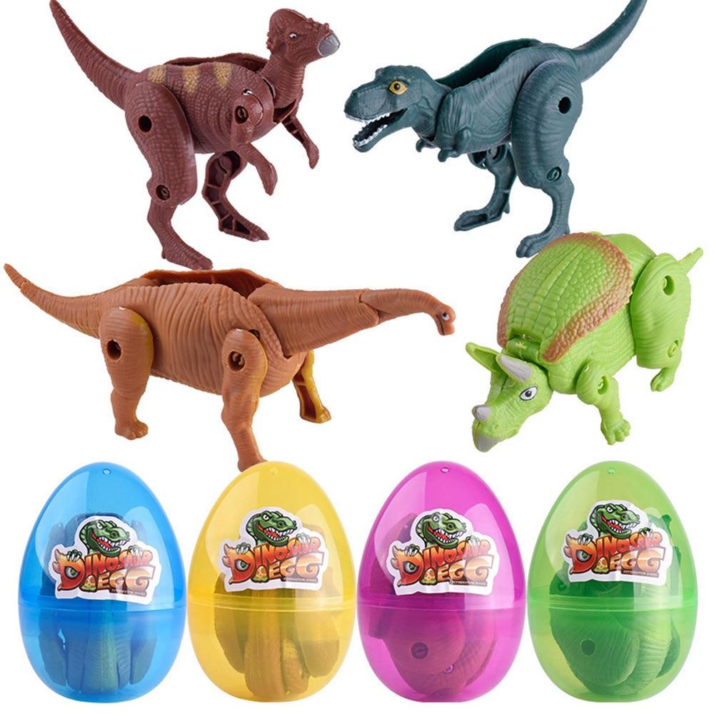 Transformar simulación modelo de dinosaurio de juguete deforme huevo de dinosaurio colección para chico magia dinosaurios creciendo eclosionando juguetes Dropship16