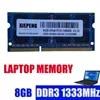Mémoire de serveur d'ordinateur portable modèle DDR3 capacité 4 go 8 go fréquence d'horloge 1333MHz norme pc3 10600 RAM 2Rx8 PC3-10600S pour macbook pro 8 3 A1278 A1297 A1286 SODIMM