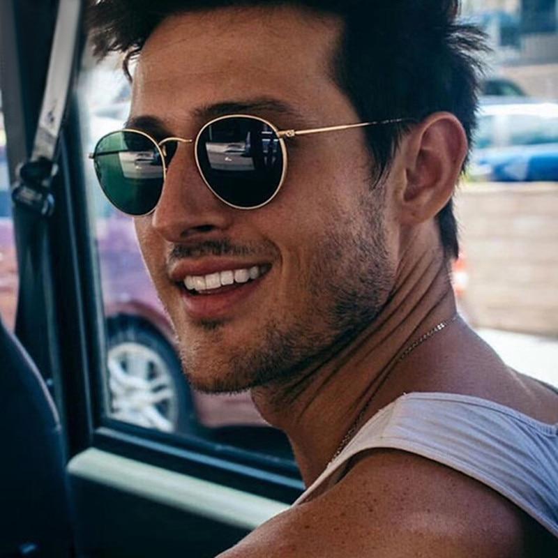 DJXFZLO Retro oval sunglasses Women/Men  brand designer vintage small black Red Yellow shades sun glasses Oculos De Sol