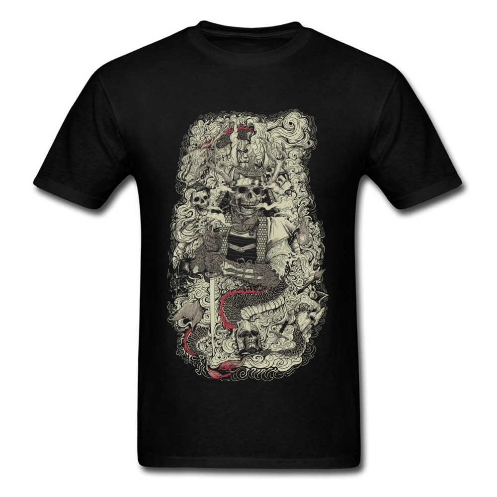 Divertidas camisetas de cómics calavera Taker Geek banda de Metal hombres camisetas de moda impresionante camiseta nueva llegada hombres Tops Camisetas Hombre