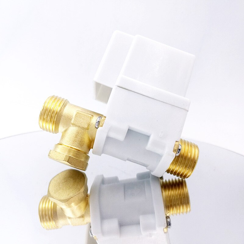 Válvula de solenoide eléctrica de latón G1/2 NC 12v 24v 220v sistema solar de aire del calentador de agua