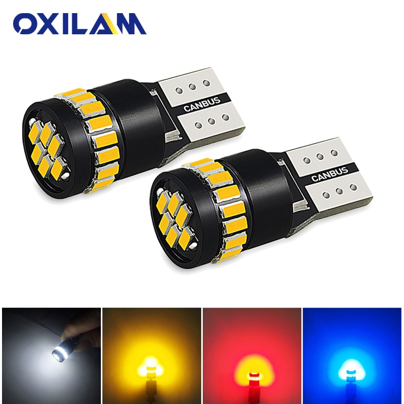 OXILAM 2x T10 W5W bombilla LED tipo Canbus luz de estacionamiento para Volvo V50 S60 S40 S80 V70 XC70 XC60 XC90 puerta lámpara Auto iluminación Interior