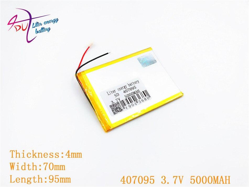 3,7 В 5000 мАч (полимерный литий-ионный аккумулятор) литий-ионный аккумулятор для планшетных ПК 7 дюймов MP3 MP4 [407095] Замена [357095] высокой емкости