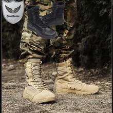 Hohe Qualität Holz Land Schuhe Military Stiefel Männer Botas Askeri Bot Bota Masculina Armee Kampf Coturnos Masculino Botas Militares