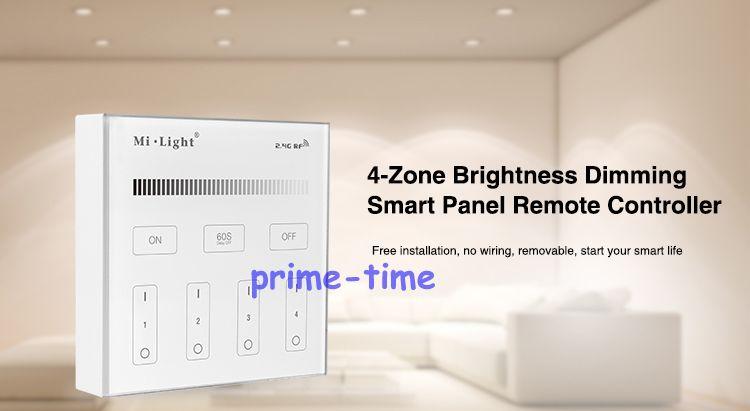 Mi. Light B1 4-Zone brillo Dimmer Panel táctil inteligente control remoto montaje en pared 2,4G Powerd inalámbrico por 3V (2 * pilas AAA)
