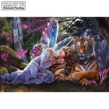 Peinture 3D mosaïque avec motif de tigre   Bricolage, peinture diamant, pierreries, photos, strass brodés, fée, loisirs, décoration artisanale, pour la maison