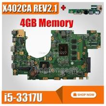 Carte denvoi + carte mère X402CA I5 CPU REV2.1 4G de mémoire pour ASUS X402CA carte mère dordinateur portable X402CA carte mère X402CA