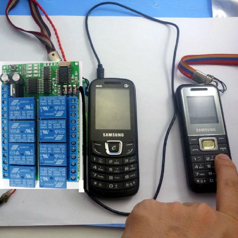 8ch 12VDC DTMF relé MT8870 decodificador de teléfono interruptor de Control remoto para AC DC LED de motor CNC Smart Home PLC