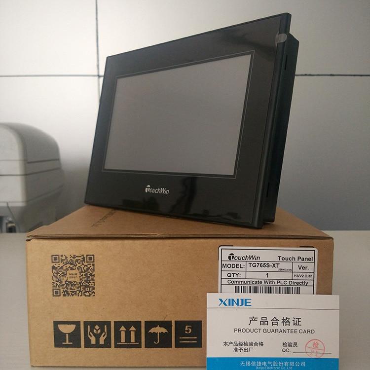 """Xinje hmi 7 """"cor tft TG765S-UT painel de toque de 7 polegadas (compatível com a maioria do mundo plcs s), tem em estoque, transporte rápido"""