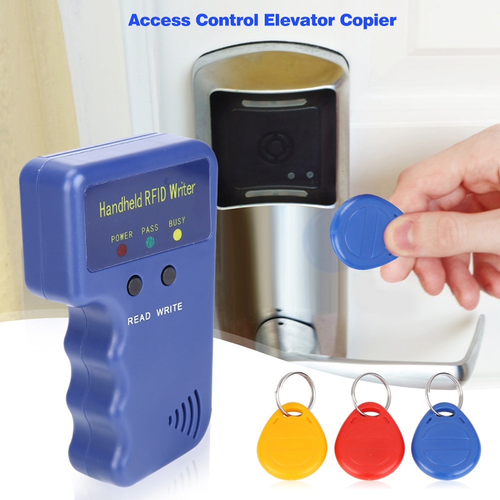Lector RFID 5200, etiquetas de copiadora reescribibles, escritor, programador ID, EM4100 Keyfobs, portátil, T5577 + 125KHz, tarjeta duplicadora EM4305