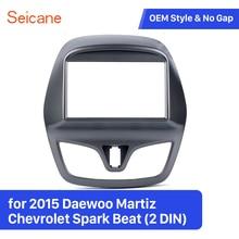 Seicane Kit de cadre de tableau de bord   Pour autoradio 2 Din 2015 Daewoo Martiz Chevrolet Spark Beat Fascia plaque de panneau