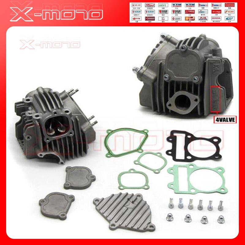 Комплект с 4 клапанными головками двигателя YX150 YX160, детали для китайского GPX YX 150cc 160cc, Dirty Trail, Pit Bike, Mini, для мотокросса