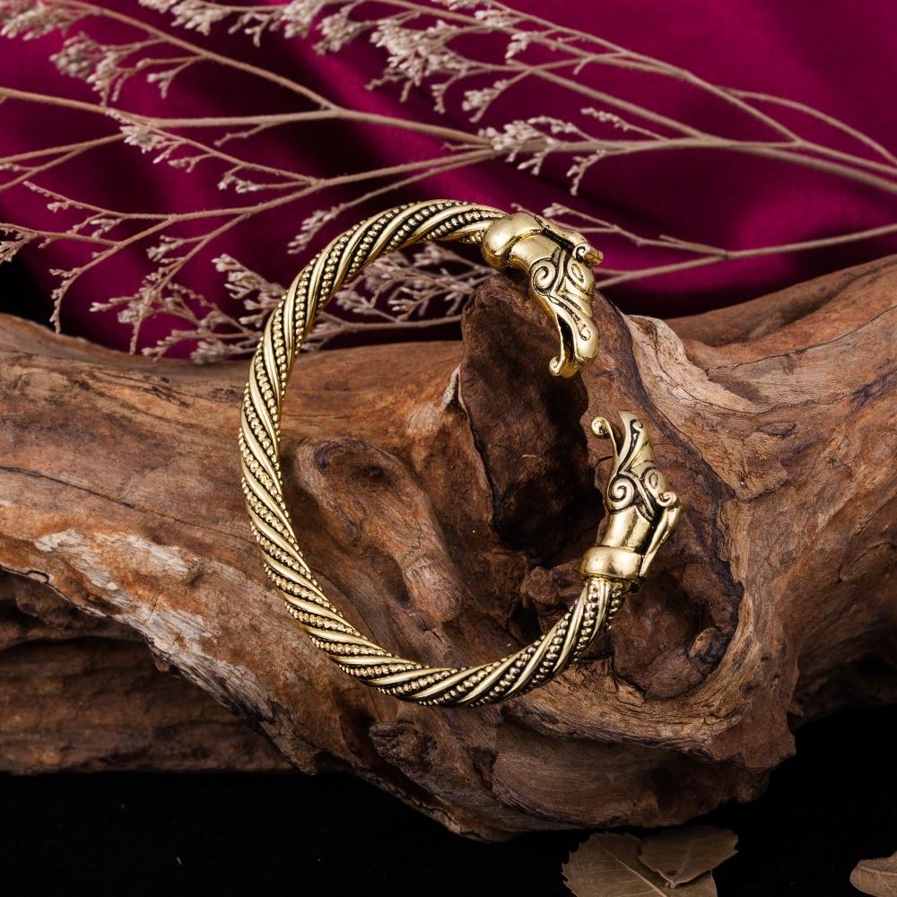 Teamer artesanal de alta qualidade jóias indianas bijoux viking dragão pulseiras pulseiras para homens feminino vintage manguito pulseira presentes