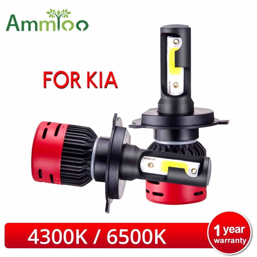 LED H4 faro bombilla LED H1 H11 H3 COB 6500K 4300K 8000Lm Auto 12V luz para KIA RIO/CEED/Sportage/alma/Sorento/Sedona/Sephia