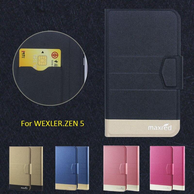 ¡2016 Super! ¿WEXLER? fundas de teléfono ZEN 5, Funda de cuero ultrafina de lujo de alta calidad directa de fábrica de 5 colores para WEXLER. ZEN 5