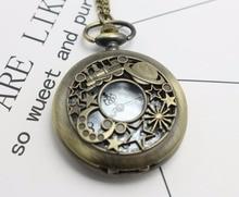 Сейлор Мун кварцевые бронзовые полые антикварные подвесные часы ожерелье карманные часы Женская Подарочная цепочка