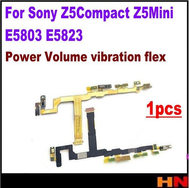 1 Uds para Sony Z5Compact Z5Mini E5803 E5823 encendido apagado/encendido volumen micrófono vibración motor flex