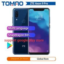 "2018 Original ZTE Axon 9 pro 4G LTE IP68 Waterproof 6.21"" 8GB 256GB Snapdragon 845 Octa core NFC 4000mAh Fingerprint 20MP Hi-Fi"