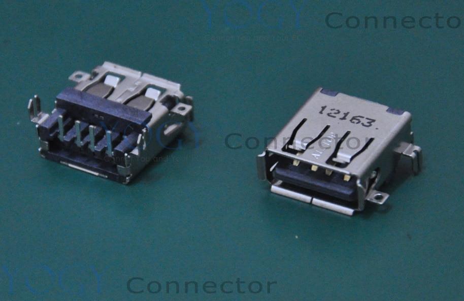 Conector USB hembra común para ordenador portátil de 14mm, 10 Uds., compatible con Lenovo B450, B450A, B450L, X220, HP, 100B, Omni 120-1024, serie ASUS G51VX