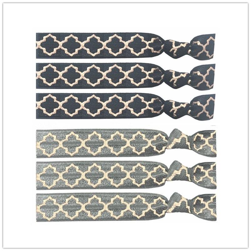 Bracelet élastique noué à cheveux Rose or 40 pièces   Nouvel arrivage, imprimé trèfle, décoration de mariage, Bracelet-Bracelet, cheveux, nouvelle collection,