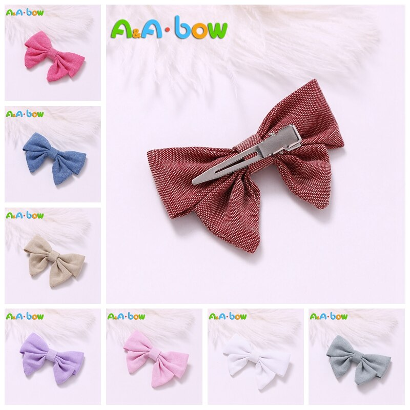 9pcs/colors 9color Handmade Girl Bow Hairpins Hair clips bow Headband For Babys Hair Accessories Bowknot Babys Hairpins