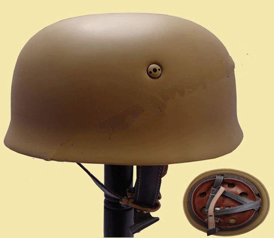 WWII German Fallschirmjager M38 Steel Helmet With Leather Liner Mud Paratrooper Helmet World War 2 German M38 Helmet-GM035