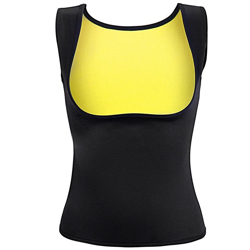 CHENYE mujer térmica modificadores cuerpo Ultra sudor adelgazar camisa de Modelador para pérdida de peso venta Tops pecho Abdomen chaleco mono