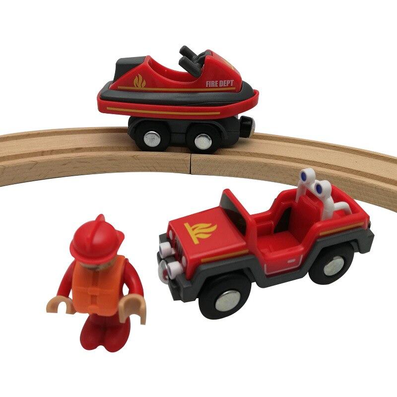 Juego de raíles de madera con ranura magnética Compatible con Brio, juguete de juguete para niños