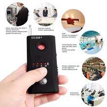 Free Shipping Multi Wireless Radio Wave Signal RF GSM Device Spy Pinhole Hidden Camera Lens Sensor Scanner Detector Finder CC308