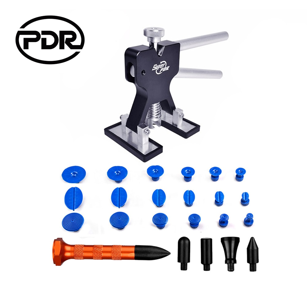 PDR herramientas de eliminación de abolladuras sin pintura Kit de pegamento tirador de abolladuras de succión Reparación de abolladuras