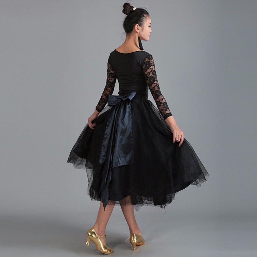 El más nuevo traje de baile de salón para mujer, falda de Color de talla grande con Tops, conjunto moderno para mujer, Jazz, vals, Disfraces para espectáculos femeninos DQ5045