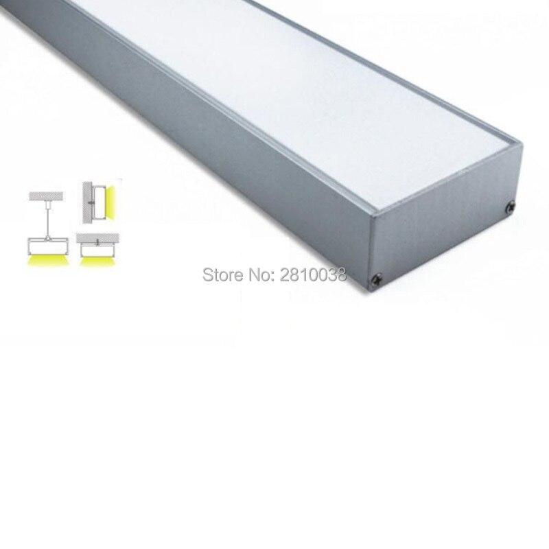 100 X1M Sets/Lot 6000 series aluminum profile led and 75mm U-shape led profile extrusion for pendant or suspension lamps